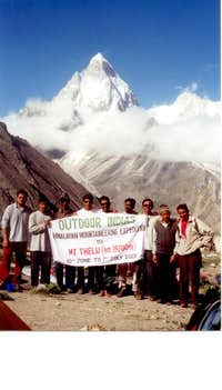 At the base camp of Mt....