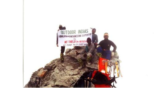 On the SUMMIT of Mt. Thelu -...