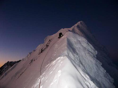 Climbing towards the summit...