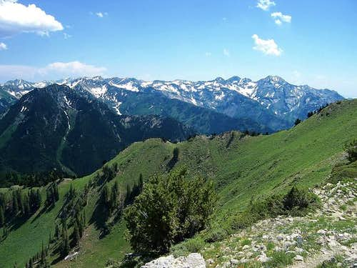 View from near the summit in...