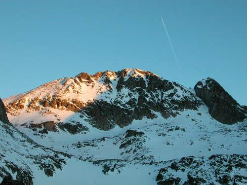 East couloir route is on the...
