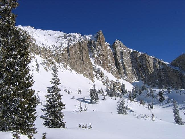 The summit of Lone Peak seen...