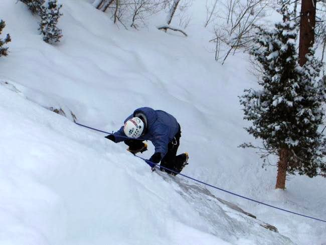 Kris climbs the right line on...