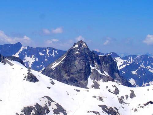 Gourg Blancs from the ridge...