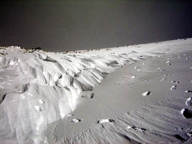 Peculiar snow formations on...