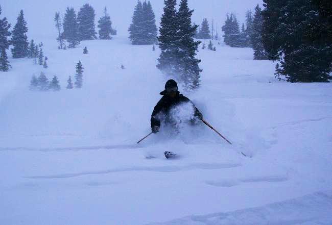 Skiing Marble Peak s East...