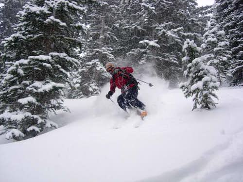 Skiing Marble Peak's East...