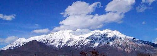 Mt. Timpanogos from Orem Utah...
