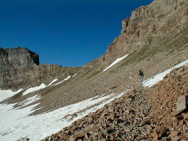 Hiker on the Timpanooke...