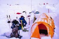 High camp at 15,000 feet....