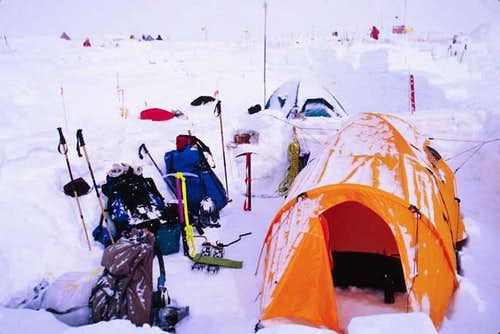 High camp at 15,000 feet....