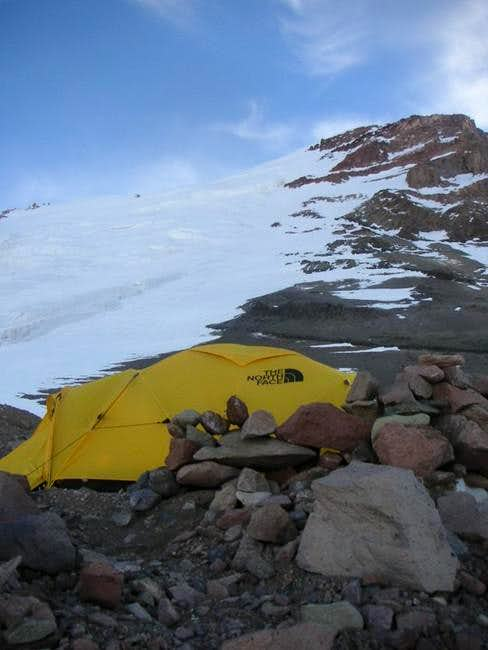 Our tent at Camp 2 (19,200\')...