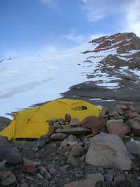 Our tent at Camp 2 (19,200')...
