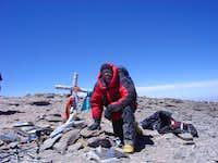 On the summit of Aconcagua
