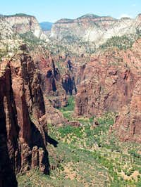 View from Angels Landing to...