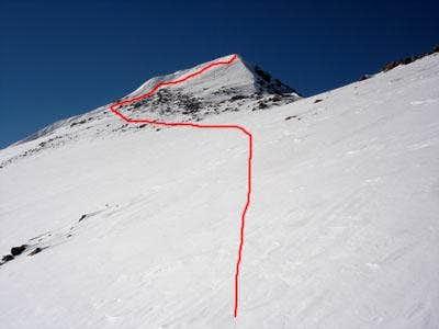 Final summit approach.