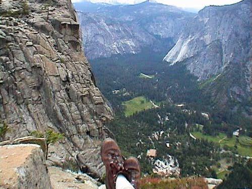 Top of Yosemite Falls looking...