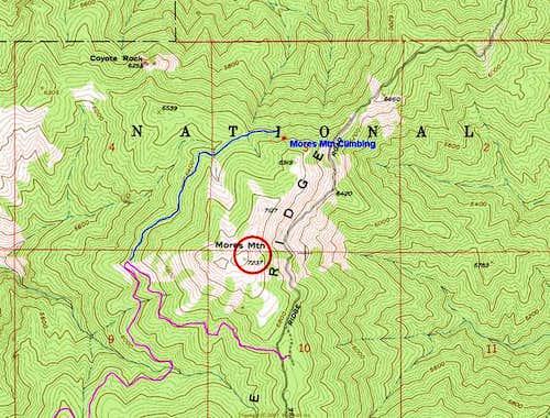 Mores Mountain Climbing area-...