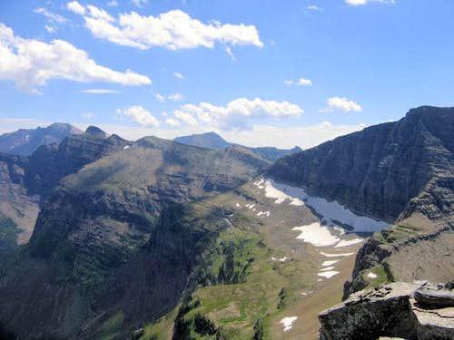 Razoredge Mountain on the far...