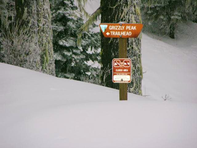 Trailhead sign located at the...