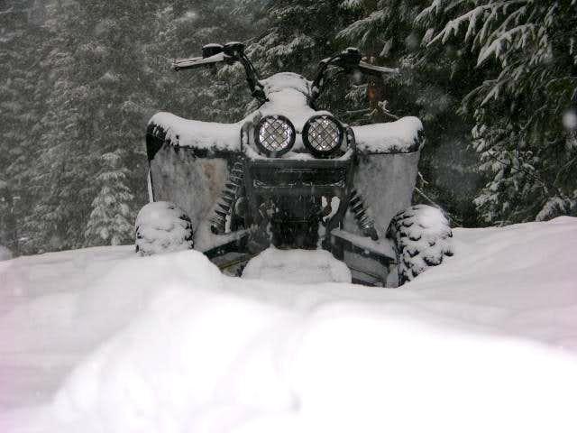 Brett's four wheeler where we...