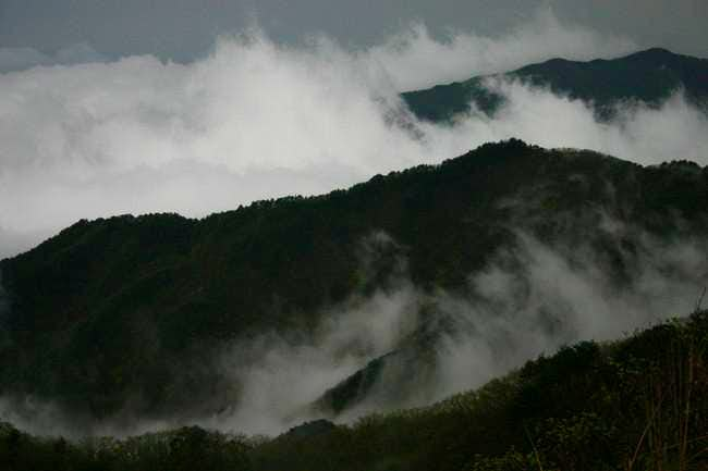 Cloud covered valleys in...