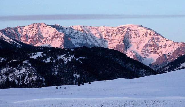 Sunrise on the massive...