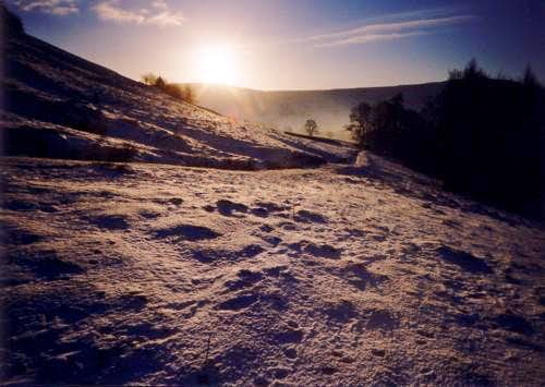 Grindsbrook on a snowy day