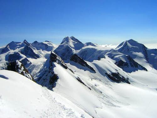 Standing on Middle Breithorn...