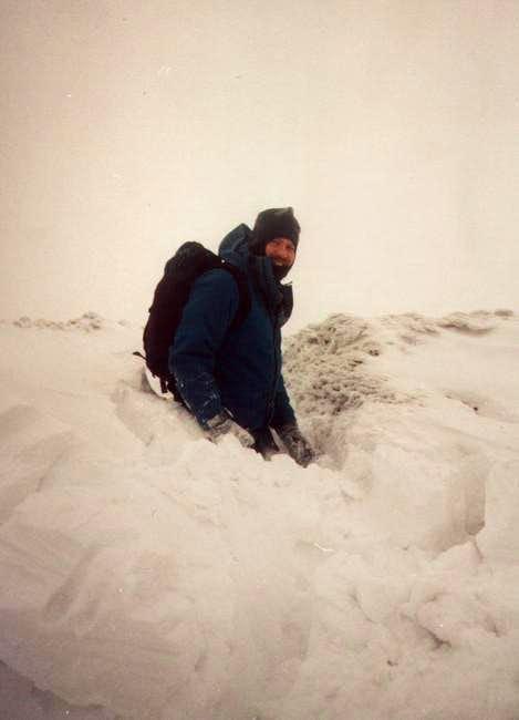 Caught in a heavy snowfall....