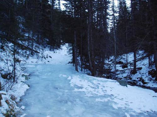 Very icy conditions on the...