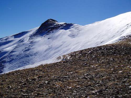 Icy conditions below Mt....