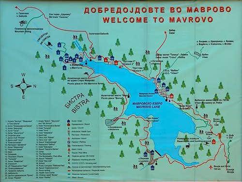 Map of Mavrovo Lake and...