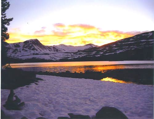 Sunset over Carrot Lake...