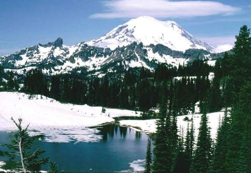 Mt. Rainier from Tipsoo Lake...
