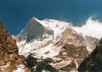 Machapuchare, from the trek...