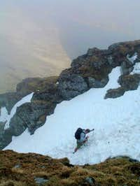 Working my way up An Stuc....