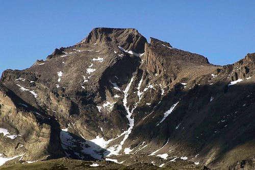 The south side of Longs Peak...