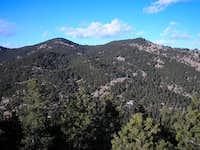 Mt. Sanitas (right) as seen...