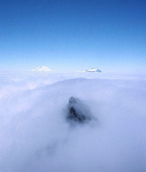 Baker and Shuksan above the clouds from Terror
