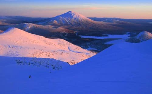 South Sister Sunset Ski,
