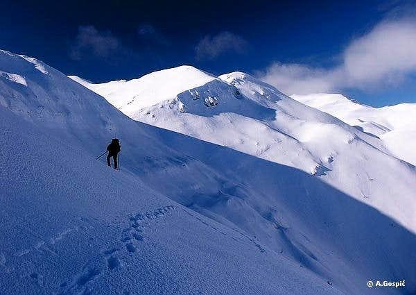 In vast snowy expanses of Velebit