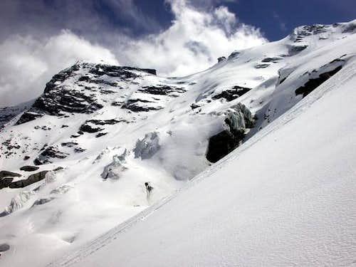... finally steep slope...