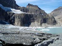 Grinnell Glacier melts into...
