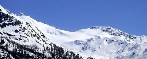 Il ghiacciaio e la punta del...