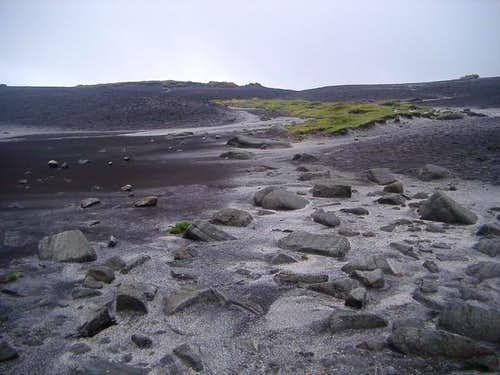 The barren and bleak plateau...