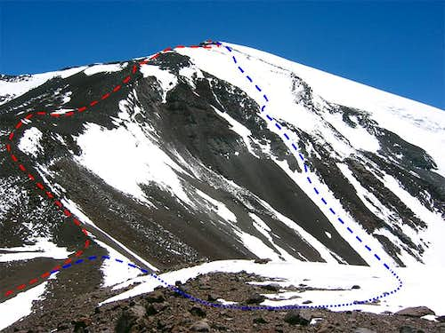 The routes up 6025 m high...
