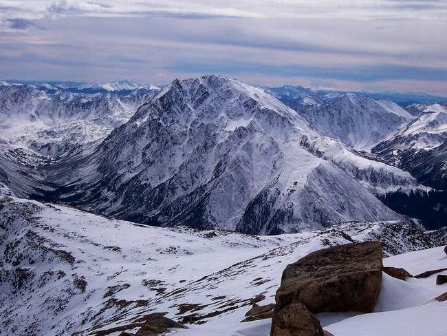 La Plata Peak from the summit...