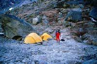 BASE camp at the foot of...