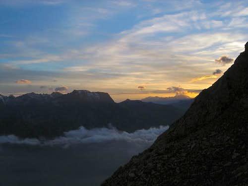 sunset from refuge Ca' d'Asti...